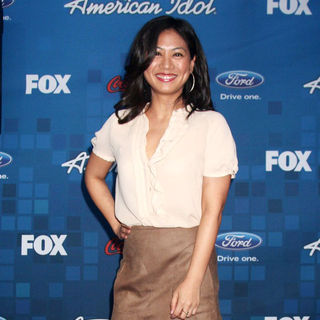 Liza Lapira in The American Idol Season 10 Top 13 Finalists Party