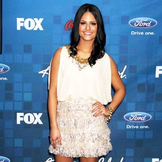 Pia Toscano in The American Idol Season 10 Top 13 Finalists Party
