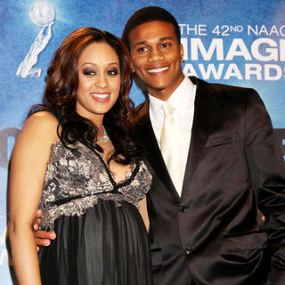Tia Mowry, Cory Hardrict in 42nd NAACP Image Awards - Press Room