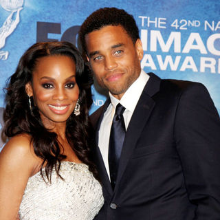Anika Noni Rose, Michael Ealy in 42nd NAACP Image Awards - Press Room
