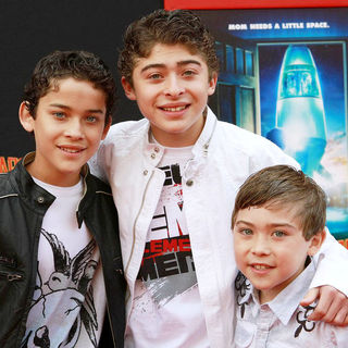 Robert Ochoa, Ryan Ochoa, Raymond Ochoa in The Los Angeles Premiere of 'Mars Needs Moms!'