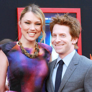 Clare Grant, Seth Green in The Los Angeles Premiere of 'Mars Needs Moms!'