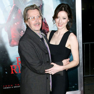 "Gary Oldman, Alexandra Edenborough in Los Angeles Premiere of Warner Bros. Pictures ""Red Riding Hood"""