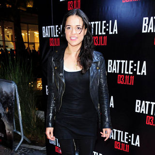 Michelle Rodriguez in Red Carpet Screening of 'Battle: Los Angeles'