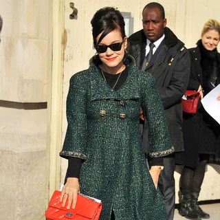 Lily Allen in Paris Fashion Week Ready to Wear Fall/Winter 2011 - Chanel - Outside Arrivals