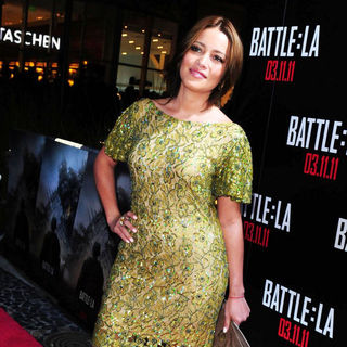 Adriana Fonseca in Red Carpet Screening of 'Battle: Los Angeles'