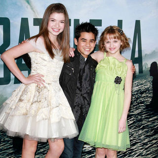 "Jadin Gould, Bryce Cass, Joey King in ""Battle: Los Angeles"" Los Angeles Premiere"