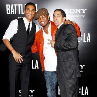 "Cory Hardrict, Ne-Yo, Neil Brown in ""Battle: Los Angeles"" Los Angeles Premiere"