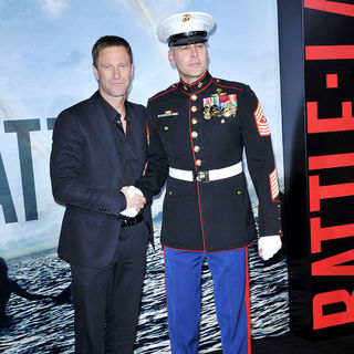"Aaron Eckhart in ""Battle: Los Angeles"" Los Angeles Premiere - wenn3242383"