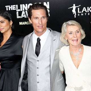 Camila Alves, Matthew McConaughey, Mary Kathleen McCabe, Rooster McConaughey in Screening of Lionsgate & Lakeshore Entertainment's 'The Lincoln Lawyer'