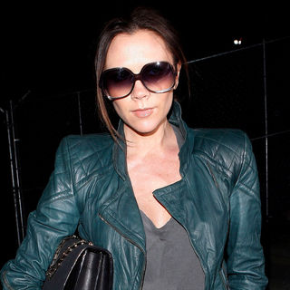 Victoria Adams in Victoria Beckham Arriving at LAX on A Flight from London