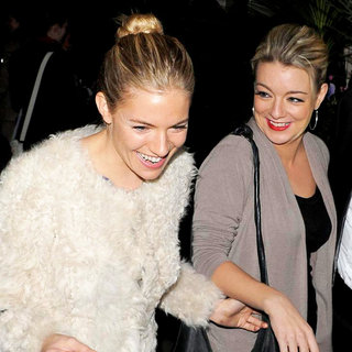 Sienna Miller, Sheridan Smith in Sienna Miller and Sheridan Smith Leaving The Theatre Royal Haymarket