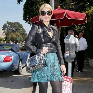 Paris Hilton in Celebrities Depart Il Cielo in Beverly Hills After Attending The Birthday Party of Kathy Hilton