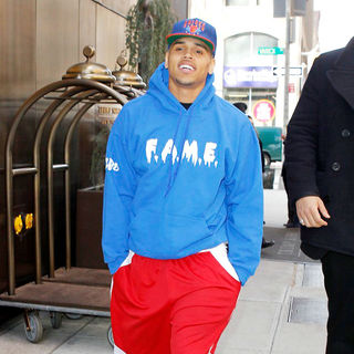 Chris Brown in Chris Brown Leaving His Hotel in The Afternoon