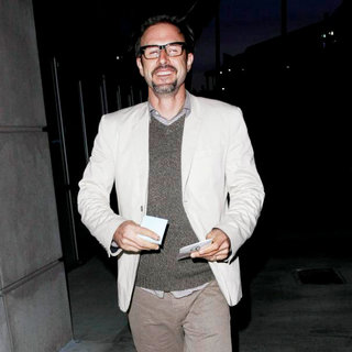 David Arquette in David Arquette Arriving at The LA Lakers Game