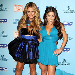 Aubrey O'Day, Melissa Molinaro in 'Perez Hilton's Blue Ball 33rd Birthday Celebration' - Arrivals