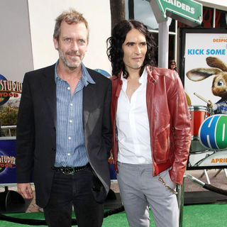 Hugh Laurie, Russell Brand in Los Angeles Premiere of 'Hop'
