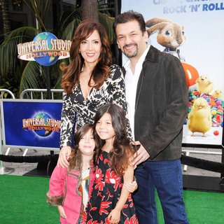 Maria Canals Barrera, David Barrera in Los Angeles Premiere of 'Hop'