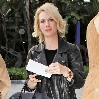 January Jones in Celebrities Attend An LA Lakers Game