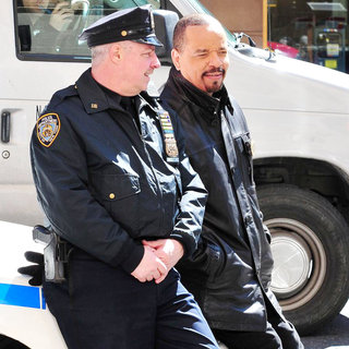 Ice-T in On The Set of 'Law & Order: SVU' - wenn3272034