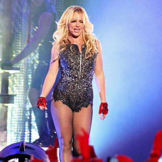 Britney Spears in Britney Spears Performing on 'Jimmy Kimmel Live!' to Promote Her New Album 'Femme Fatale'