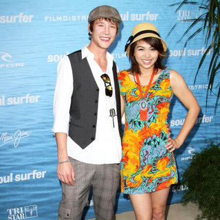 Nick Roux, Hayley Kiyoko in The Los Angeles Premiere of 'Soul Surfer'