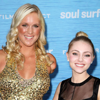 Bethany Hamilton, AnnaSophia Robb in The Los Angeles Premiere of 'Soul Surfer'