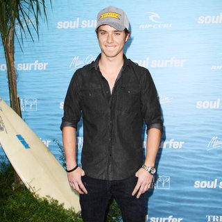 Jeremy Sumpter in The Los Angeles Premiere of 'Soul Surfer'