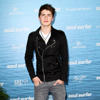 Gregg Sulkin in The Los Angeles Premiere of 'Soul Surfer'