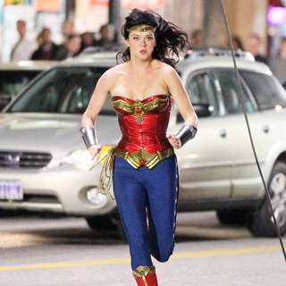 Adrianne Palicki in Filming on The Set of 'Wonder Woman'
