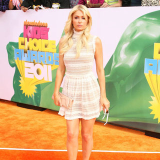 Paris Hilton in Nickelodeon's 2011 Kids Choice Awards