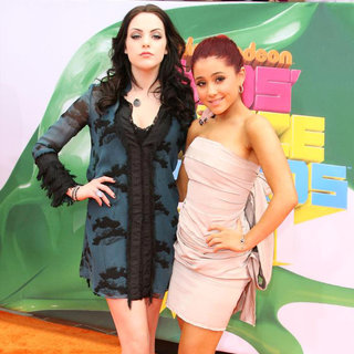 Elizabeth Gillies, Ariana Grande in Nickelodeon's 2011 Kids Choice Awards