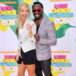 Arielle Kebbel, will.i.am in Nickelodeon's 2011 Kids Choice Awards