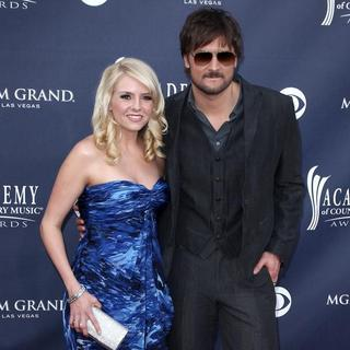 Eric Church, Katherine Blasingame in The Academy of Country Music Awards 2011 - Arrivals