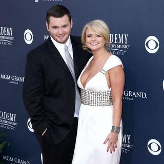 Luke Lambert, Miranda Lambert in The Academy of Country Music Awards 2011 - Arrivals
