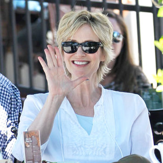 Jane Lynch in Jane Lynch Having Breakfast in Hollywood