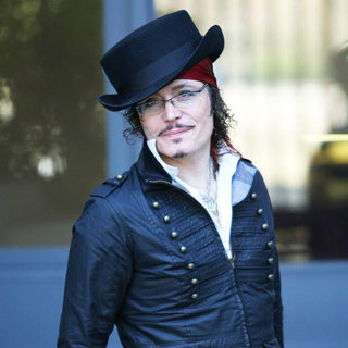 Adam Ant in Adam Ant Outside The ITV Studios