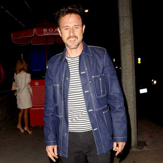 David Arquette in David Arquette Arriving at Boa Steakhouse to Have A Meal with Friends