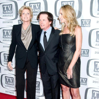 Meredith Baxter, Michael J. Fox, Tracy Pollan in The 9th Annual TV Land Awards