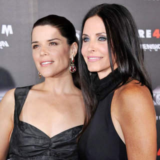 Neve Campbell, Courteney Cox in World Premiere of 'Scream 4' - Arrivals