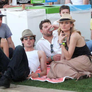 Nina Dobrev, Ian Somerhalder, Joshua Jackson, Diane Kruger in Celebrities at The 2011 Coachella Valley Music and Arts Festival - Day 2
