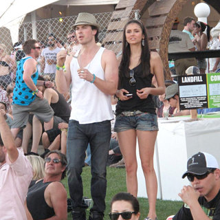 Ian Somerhalder, Nina Dobrev in Celebrities at The 2011 Coachella Valley Music and Arts Festival - Day 2