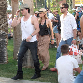Ian Somerhalder, Diane Kruger, Joshua Jackson in Celebrities at The 2011 Coachella Valley Music and Arts Festival - Day 2