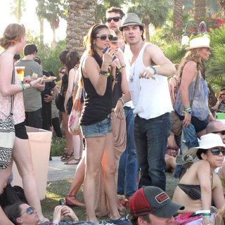 Nina Dobrev, Ian Somerhalder, Diane Kruger, Joshua Jackson in Celebrities at The 2011 Coachella Valley Music and Arts Festival - Day 2