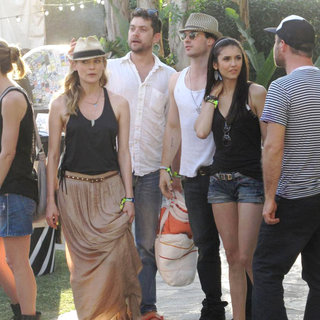 Diane Kruger, Joshua Jackson, Ian Somerhalder, Nina Dobrev in Celebrities at The 2011 Coachella Valley Music and Arts Festival - Day 2