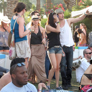 Diane Kruger, Joshua Jackson, Nina Dobrev, Ian Somerhalder in Celebrities at The 2011 Coachella Valley Music and Arts Festival - Day 2