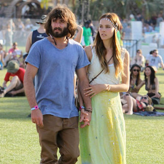 Angus Stone, Isabel Lucas in Celebrities at The 2011 Coachella Valley Music and Arts Festival - Day 2