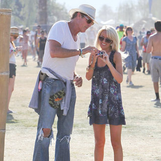 David Hasselhoff, Hayley Roberts in Celebrities at The 2011 Coachella Valley Music and Arts Festival - Day 2