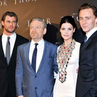 Chris Hemsworth, Kenneth Branagh, Jaimie Alexander, Tom Hiddleston in Australian Premiere of 'Thor' at Even Cinemas George St.