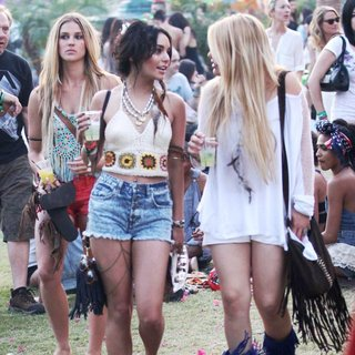 Vanessa Hudgens in Celebrities at The 2011 Coachella Valley Music and Arts Festival - Day 3